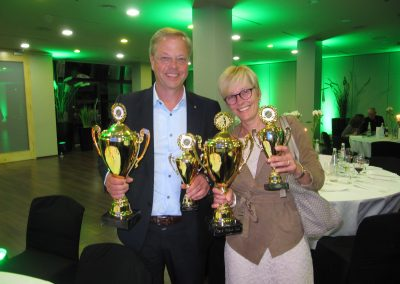 Sieger Netto-Teamwertung Klasse B und Sonderwertung Gerd Möbus Preis: Susanne Frey und Karl-Friedrich Appel